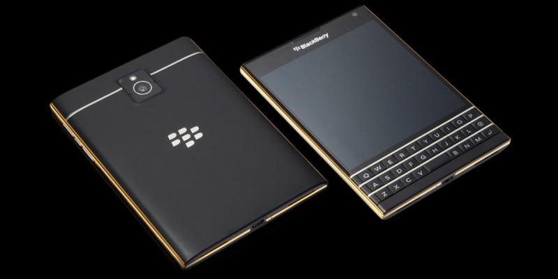 Blackberry Passport от Goldgenie в желтом золоте