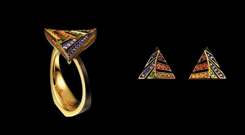 Кольцо из серьги из коллекции Kaleidoscope