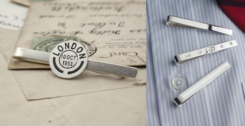 Зажимы для галстука из серебра