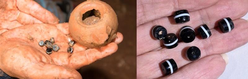 Бусины, особенно хорошо сохранившиеся за 2300 лет