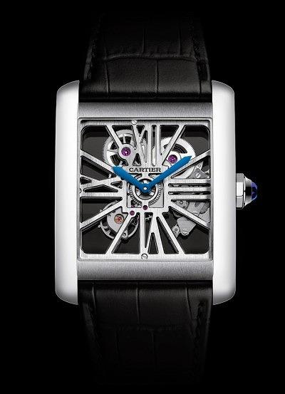 Часы Tank MC Skeleton от Cartier.