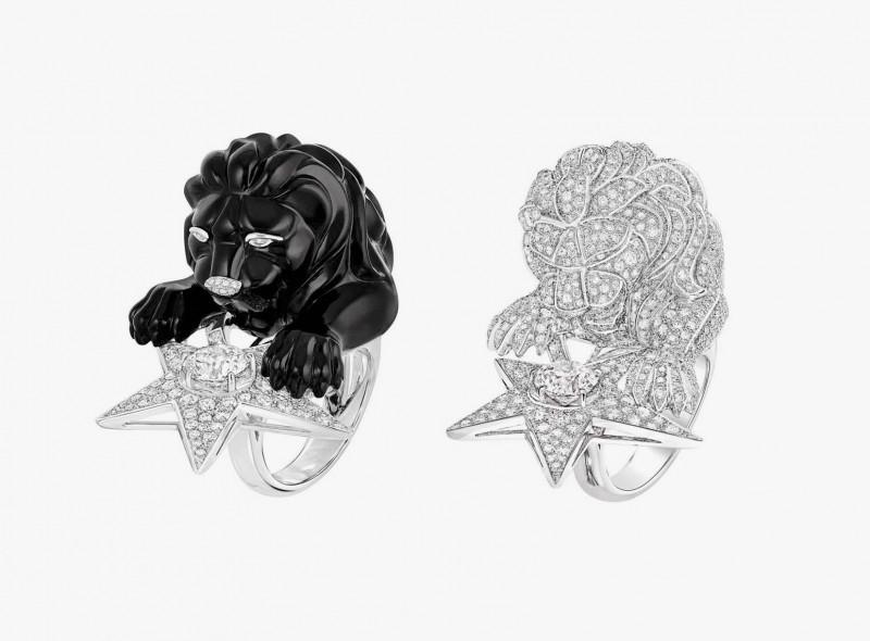 Кольцо со львом Constellation du Lion доступно в двух вариациях: целиком покрытое бриллиантами, либо со львом из оникса