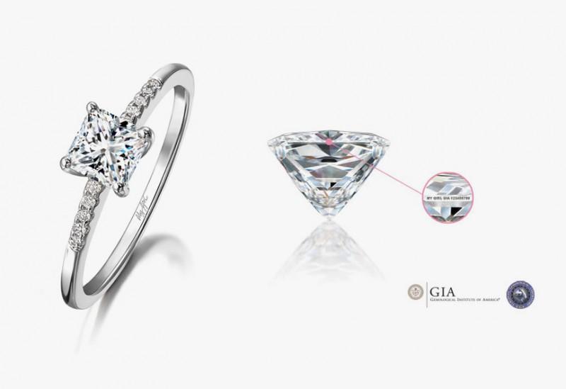 Бриллианты My Girl имеют лазерную гравировку на рундисте, подтверждающую подлинность каждого из них