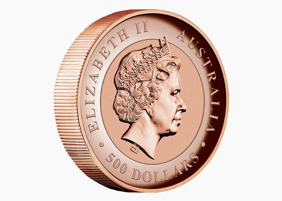 Реверс монеты Kimberley Sunset с профилем Елизаветы II