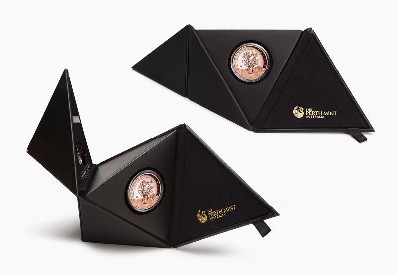 Дизайнерская упаковка монеты Kimberley Sunset