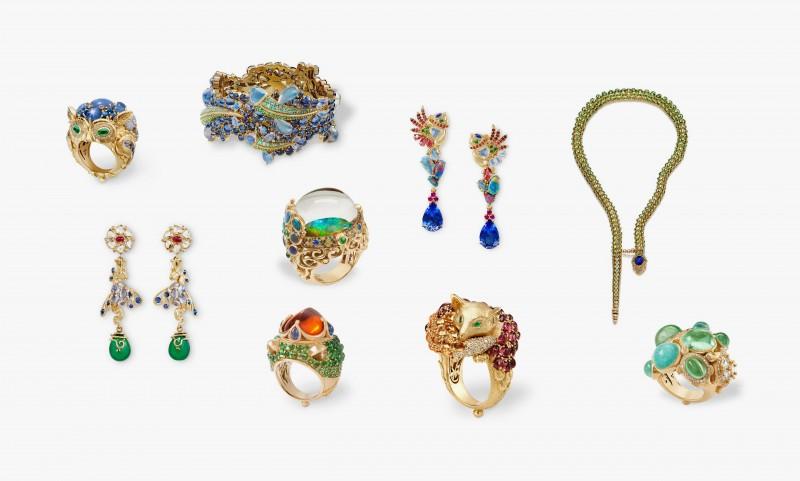 Коллекция Mythical Creatures From the Golden Menagerie, включающая девять неповторимых украшений.