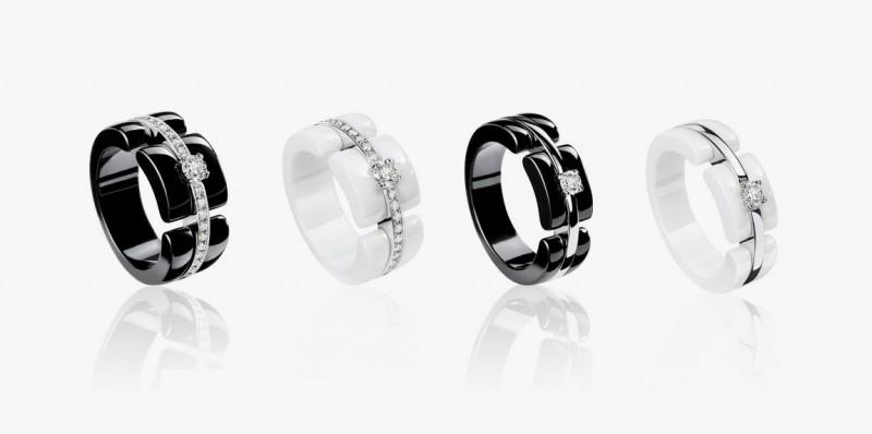 Кольца из ювелирной керамики из коллекции Chanel Ultra