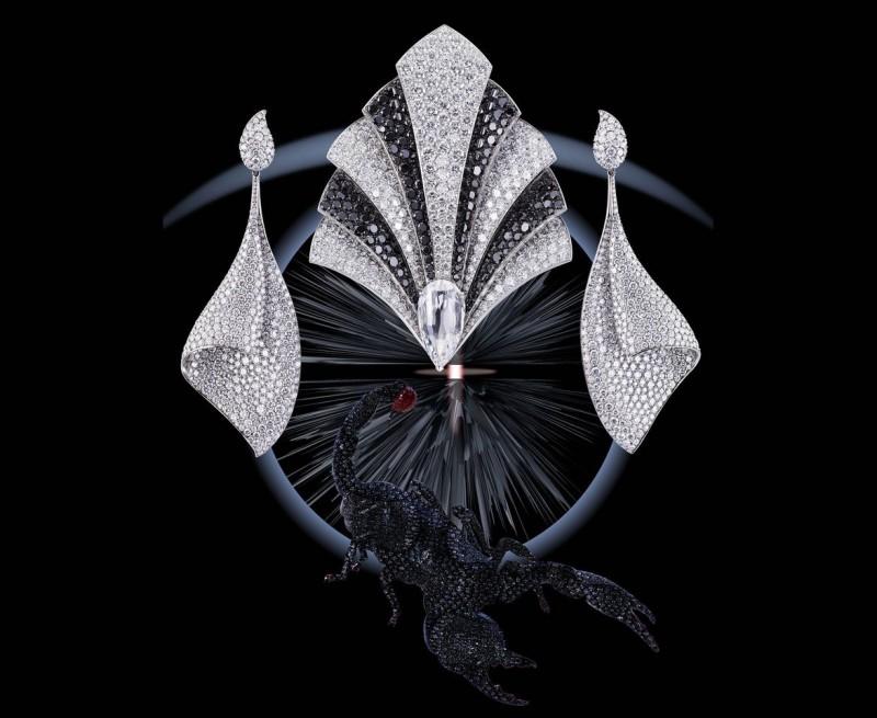 Фото из книги Dream of Diamonds. Титановые серьги из коллекции Sail от Adler Joailliers с 836 бриллиантами общим весом 36 карат