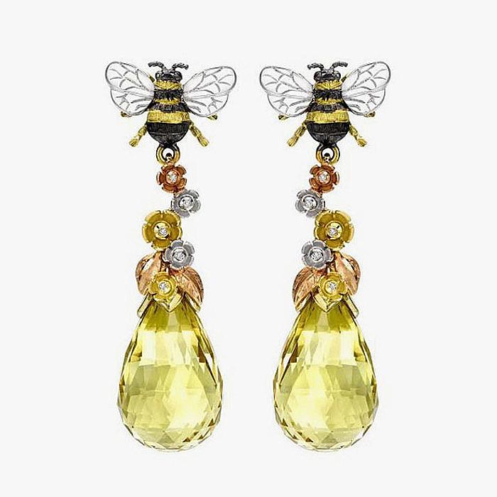 Серьги с пчелами от Theo Fennell