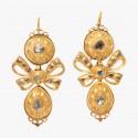 Серьги из золота с бриллиантами. Glorious Antique Jewelry