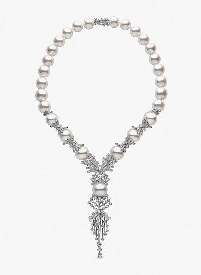 Колье с морским жемчугом и бриллиантами от YOKO London