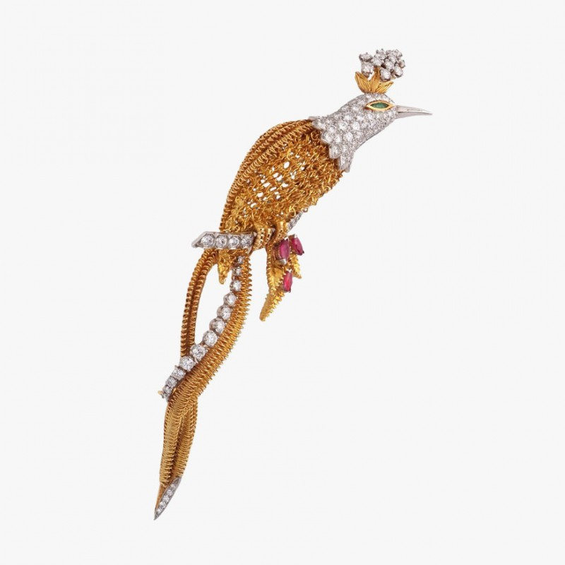 Брошь Bird Of Paradise от Cartier