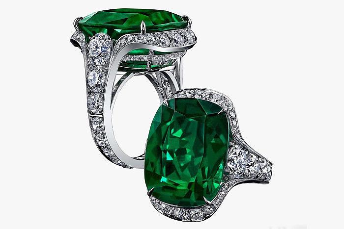 Кольцо Robert Procop с бриллиантами и изумрудом весом 23 карата