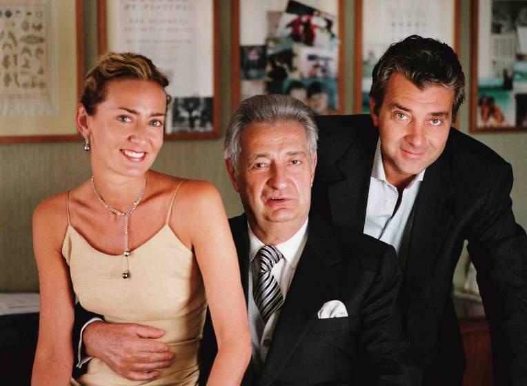 Слева направо: Мария Кристина Буччеллати, Джанмария Буччеллати, Андреа Буччеллати