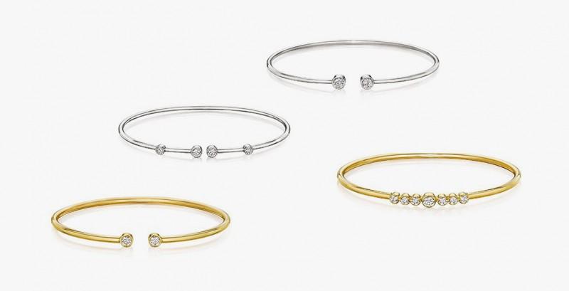 Гибкие браслеты из золота с бриллиантами из коллекции Flex Forte от A. Link