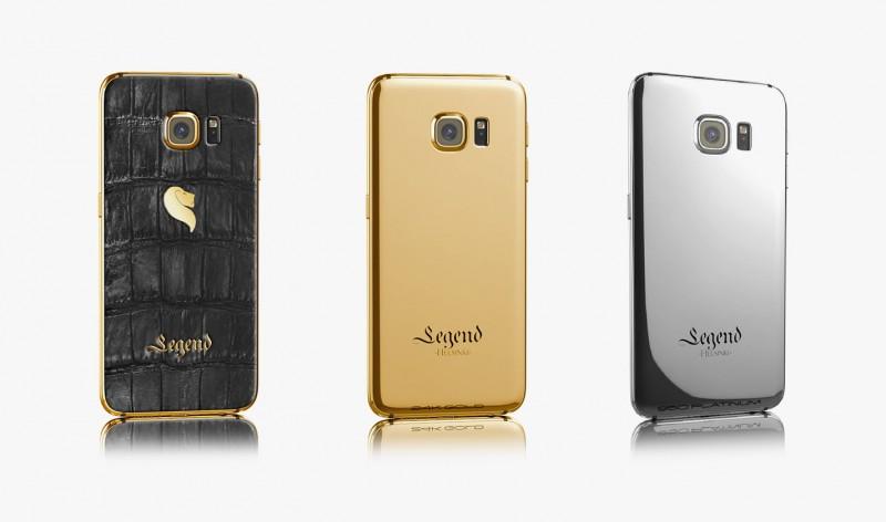 Samsung Galaxy S6 в золотой, платиновой и кожаной версии от Legend