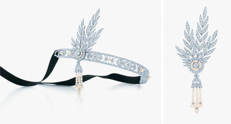 Головное украшение Savoy с жемчугом и бриллиантами, а также с отстегивающейся брошью