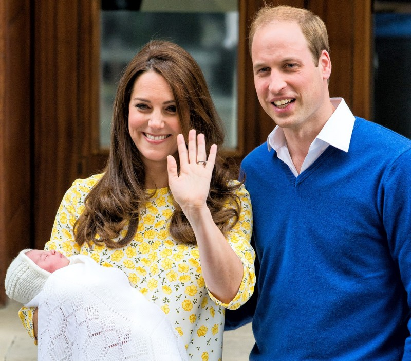 Фото Кейт Миддлтон и принца Уильям с маленькой принцессой Шарлоттой