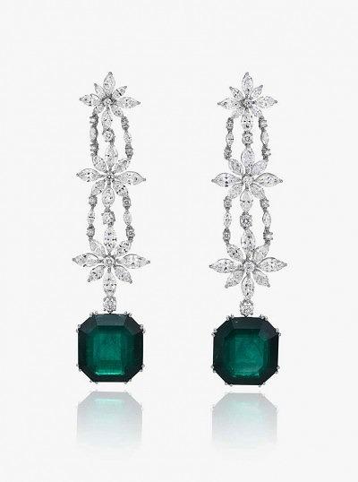 Серьги с изумрудами и бриллиантами из коллекции Red Carpet 2015