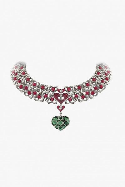 Колье с рубинами и бриллиантами от Avakian
