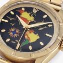 Часы Rolex c циферблатом в технике клуазоне
