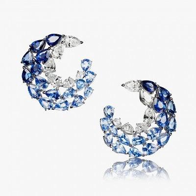Серьги с бриллиантами и сапфирами L'Oiseau Bleu от Adler