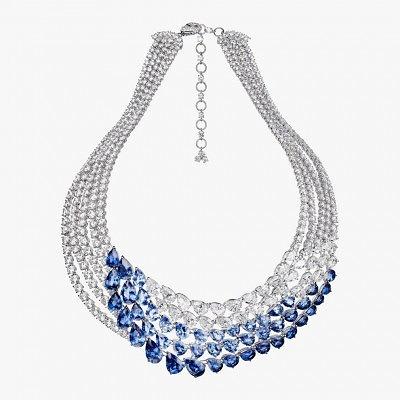 Кольце с бриллиантами и сапфирами L'Oiseau Bleu от Adler