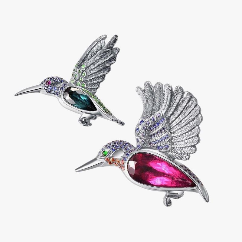Броши с колибри от Forever Jewels