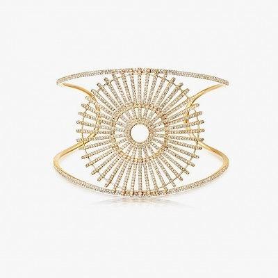 Золотой браслет с бриллиантами из коллекции Rising Sun от Astley Clark