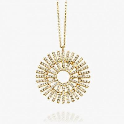 Кулон из желтого золота с бриллиантами из коллекции Rising Sun от Astley Clark