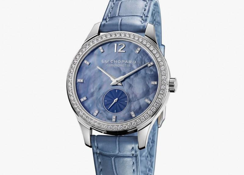 Изящные часы U.C XPS 35mm Esprit de Fleurier из белого золота с бриллиантами