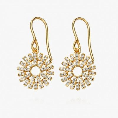 Серьги из желтого золота с бриллиантами из коллекции Rising Sun от Astley Clark
