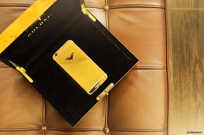 iPhone6 от Vorsteiner в золотом корпусе в фирменной коробке Gold&Co
