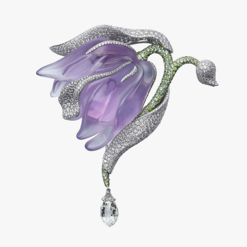 Брошь Caresse d'Orchidées от Cartier