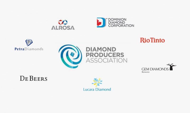 Семь алмазодобывающих компаний, объединившихся в Diamond Producers Association