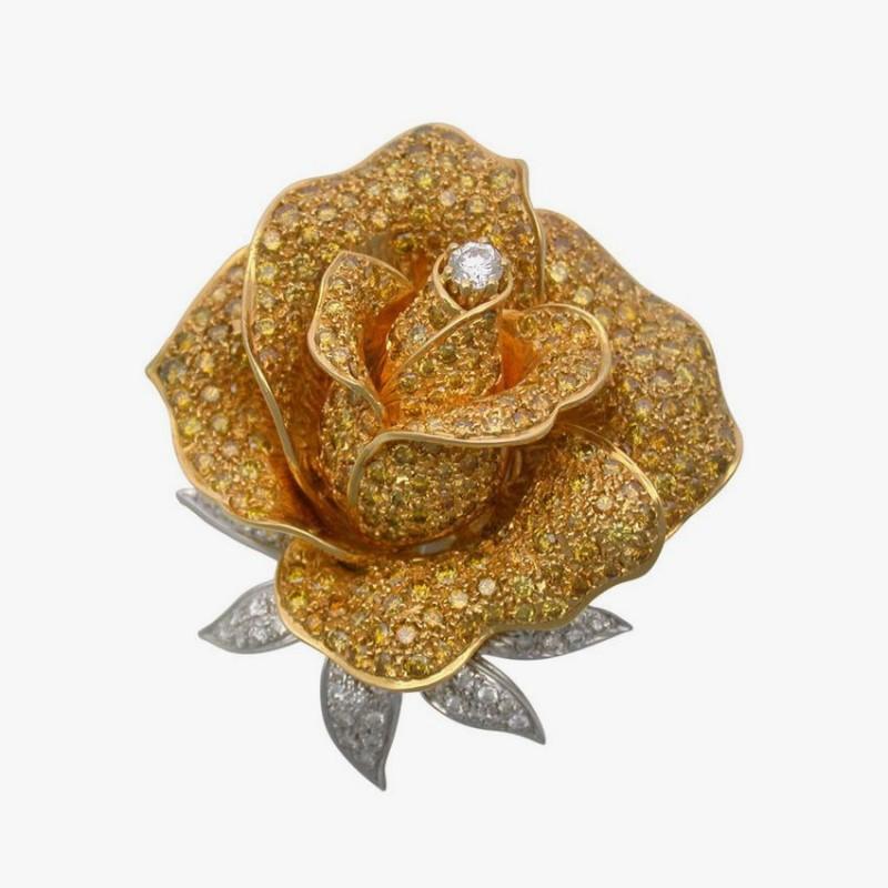 Брошь в форме розы от Sabbadini.