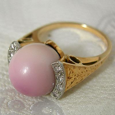 Кольцо с жемчугом ко хог. Фото: kojimapearl.com