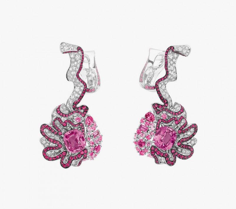 Серьги с сапфирами и бриллиантами из коллекции Soie Dior