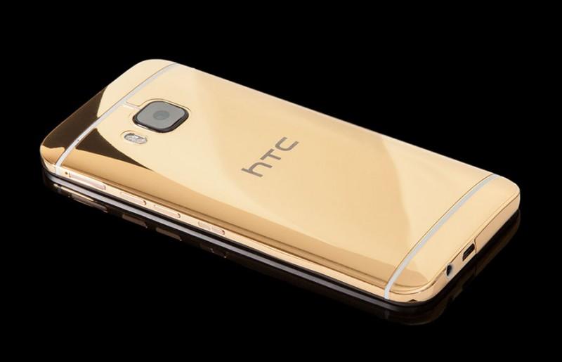 HTC One M9 в золотом корпусе от Goldgenie