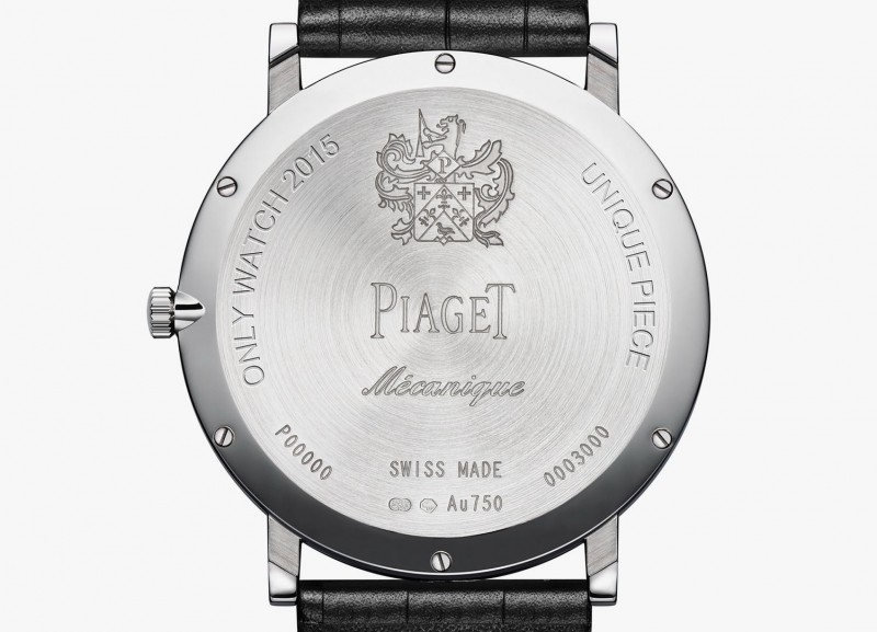 Altiplano 900P от Piaget обратная сторона часов