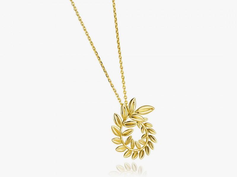 Золотая подвеска из коллекции Palme Verte от Chopard