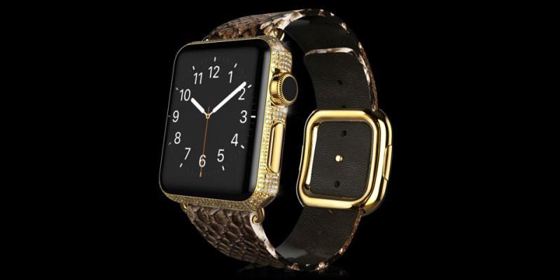 Золотые Apple Watch от Goldgenie из коллекции Spectrum