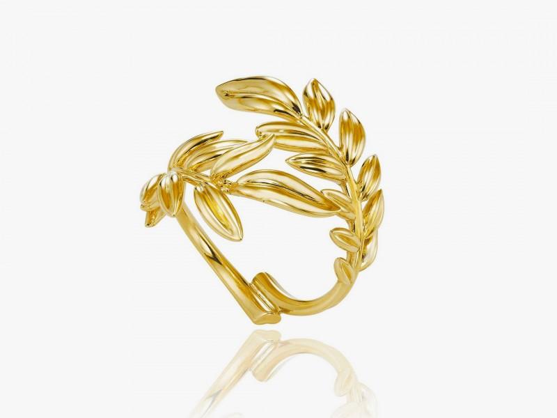 Кольцо из 18-каратного «этичного» золота из коллекции Palme Verte от Chopard