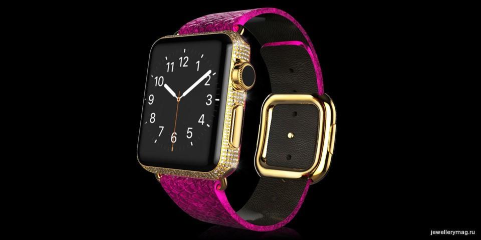 часы  с золотым напылением