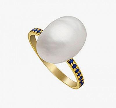 Кольцо с жемчужиной кеши от Halleh