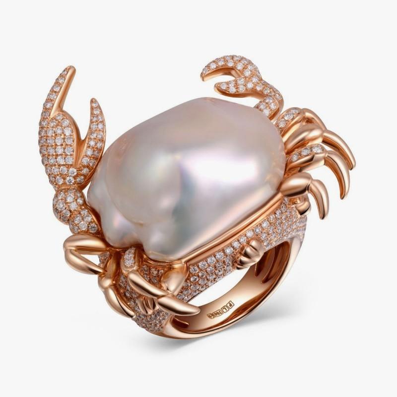 Кольцо с крабом от Fei Liu