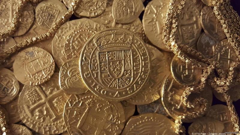 Золотые монеты, найденные семьей Шмиттов на дне моря