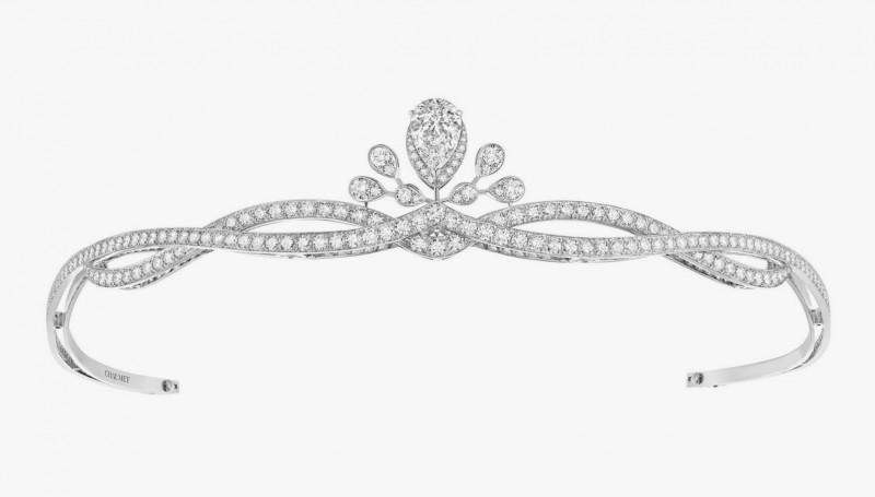 Тиара с бриллиантами классической и грушевидной огранки из коллекции Joséphine от Chaumet