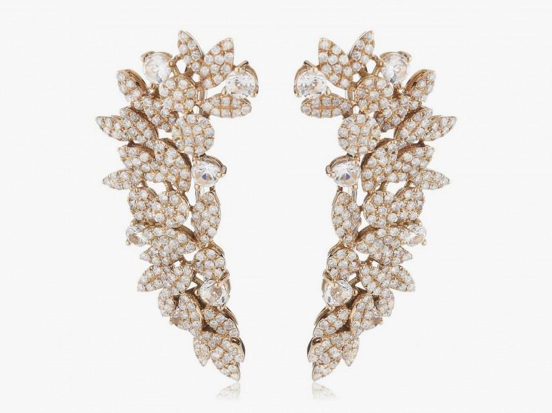 Каффы из розового золота, украшенные сапфирами и классическими бриллиантами, от AS29