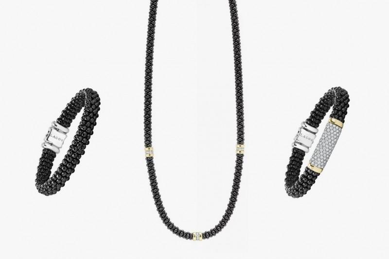 Браслеты и колье из коллекции Black Ceramic Caviar от Lagos